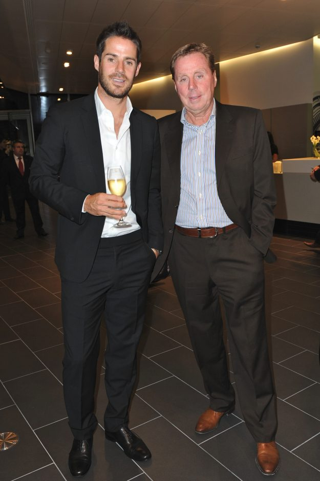 LONDON, UNITED KINGDOM - OCTOBER 12: Jamie Redknapp and Harry Redknapp attends the opening of the new Audi Showroom on October 12, 2009 in London, England. (Photo by JAB Promotions/WireImage)