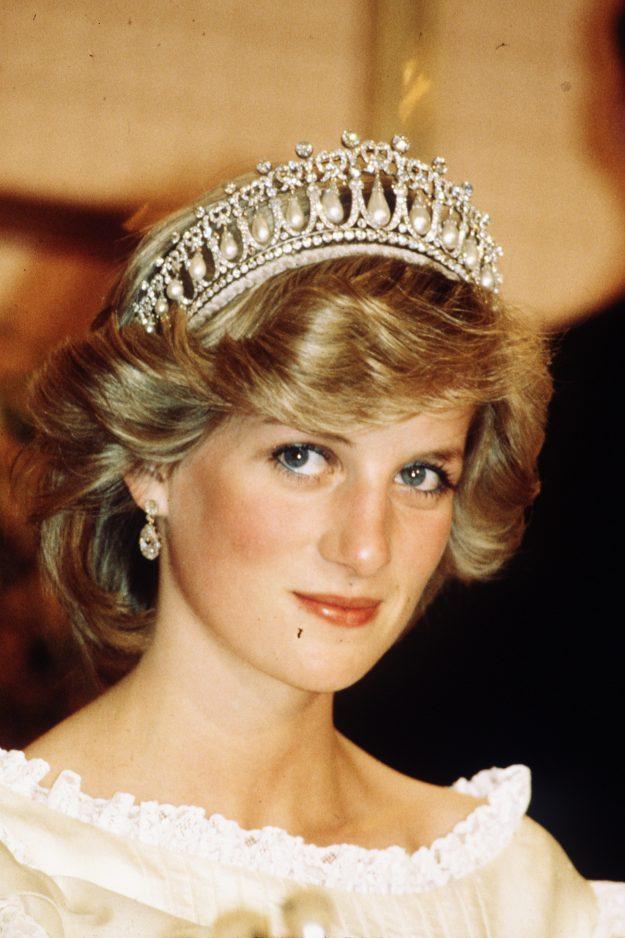 Princess Diana wearing the tiara in New Zealand in April 1983