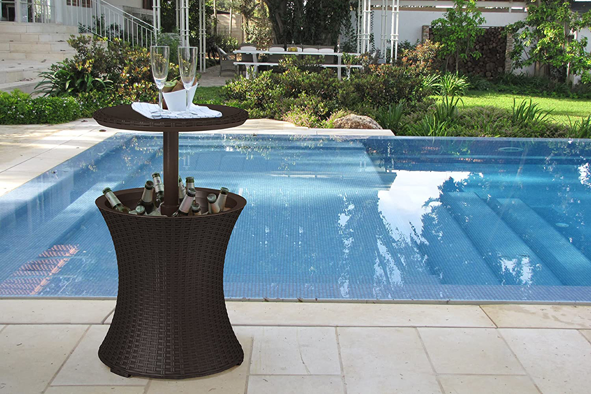 this outdoor accent table by keter is
