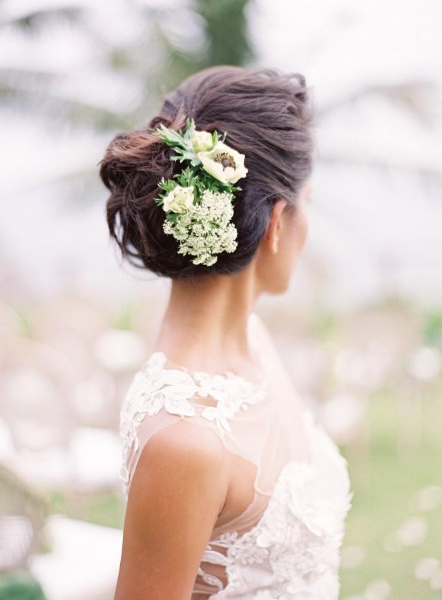 20 wedding hairstyles with flowers | martha stewart weddings