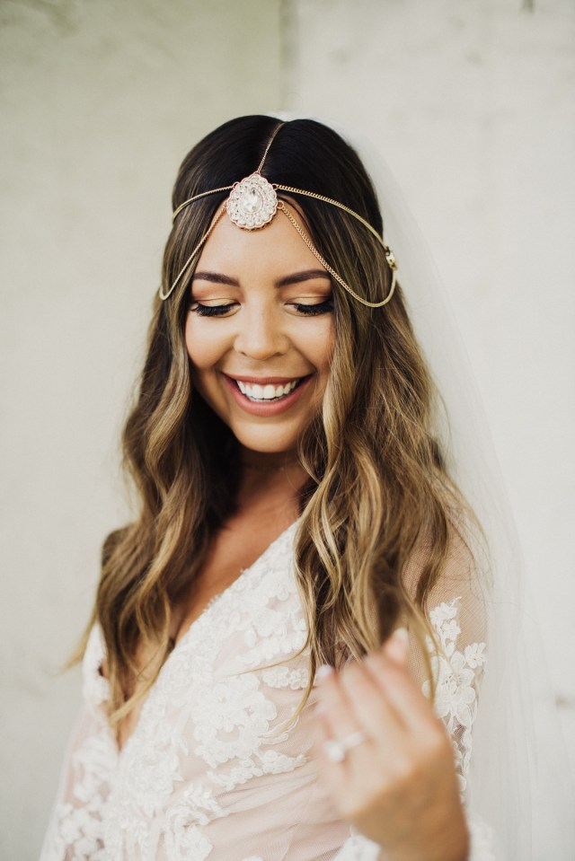 the best hairstyles for brides who love a middle part