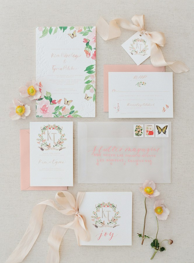 The Loveliest Watercolor Wedding Invitations Martha