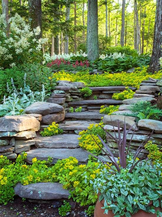 Hillside Landscaping Ideas   Better Homes & Gardens on Downward Sloping Garden Ideas id=83976