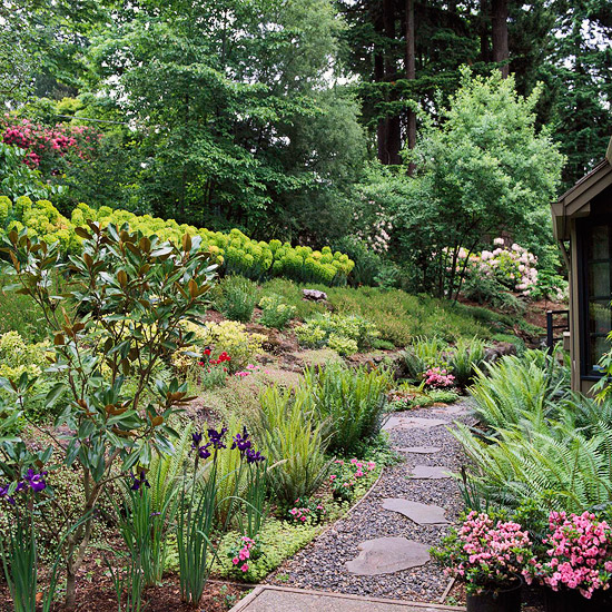 Hillside Landscaping Ideas | Better Homes & Gardens on Backyard Hill Landscaping Ideas  id=45570
