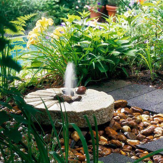 Outdoor Fountain Ideas   Better Homes & Gardens on Home Garden Fountain Design id=19600