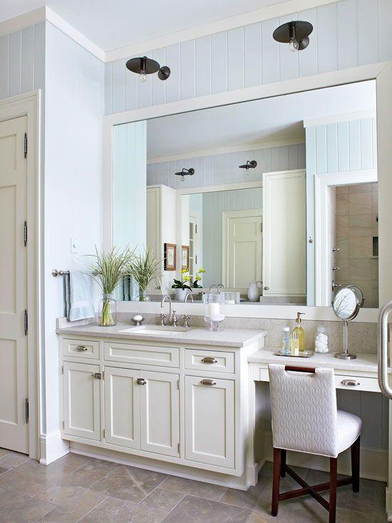 Bathroom Lighting Ideas | Better Homes & Gardens on Small Area Bathroom Ideas  id=70687
