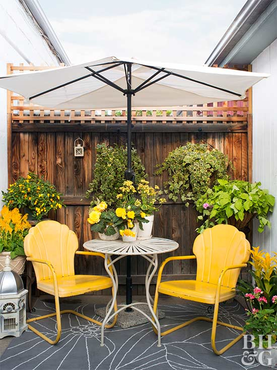 Small + Simple Outdoor Living Spaces | Better Homes & Gardens on Small Backyard Living Spaces  id=66906