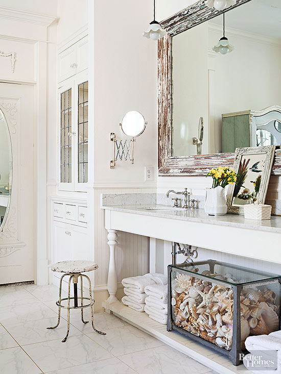 Country-Cottage Bathroom Ideas | Better Homes & Gardens on Rural Bathroom  id=83760