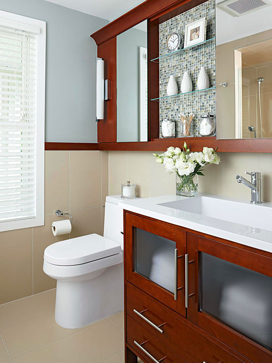 Small Bathroom Storage | Better Homes & Gardens on Bathroom Ideas For Small Spaces  id=13787