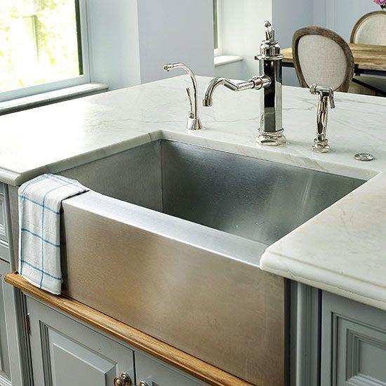 Kitchen Sinks: Farmhouse Sink Ideas   Better Homes & Gardens on Farmhouse Kitchen Sink Ideas  id=25190
