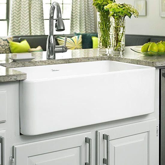 Kitchen Sinks: Farmhouse Sink Ideas   Better Homes & Gardens on Farmhouse Kitchen Sink Ideas  id=75287