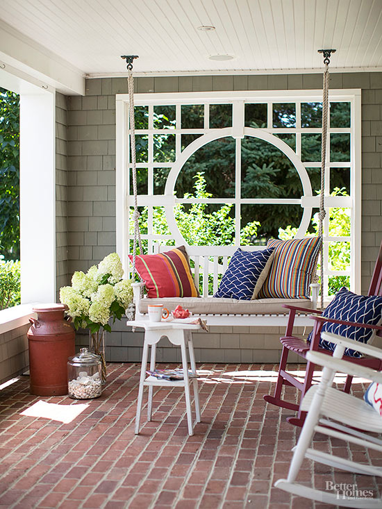 DIY Patio Ideas   Better Homes & Gardens on Diy Backyard Deck Ideas id=19837