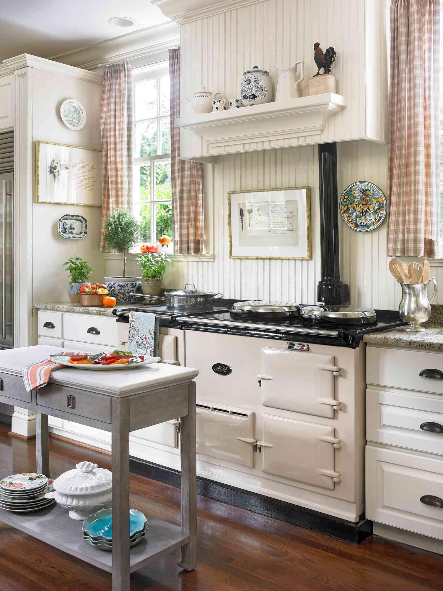 Rustic Window Treatment Ideas   Better Homes & Gardens on Farmhouse Curtain Ideas  id=86681