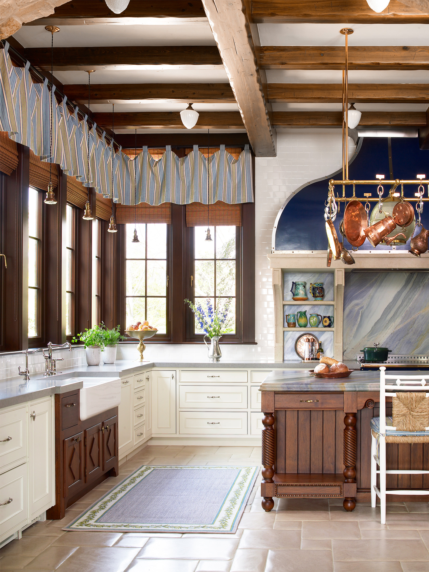 Rustic Window Treatment Ideas   Better Homes & Gardens on Farmhouse Curtain Ideas  id=34863