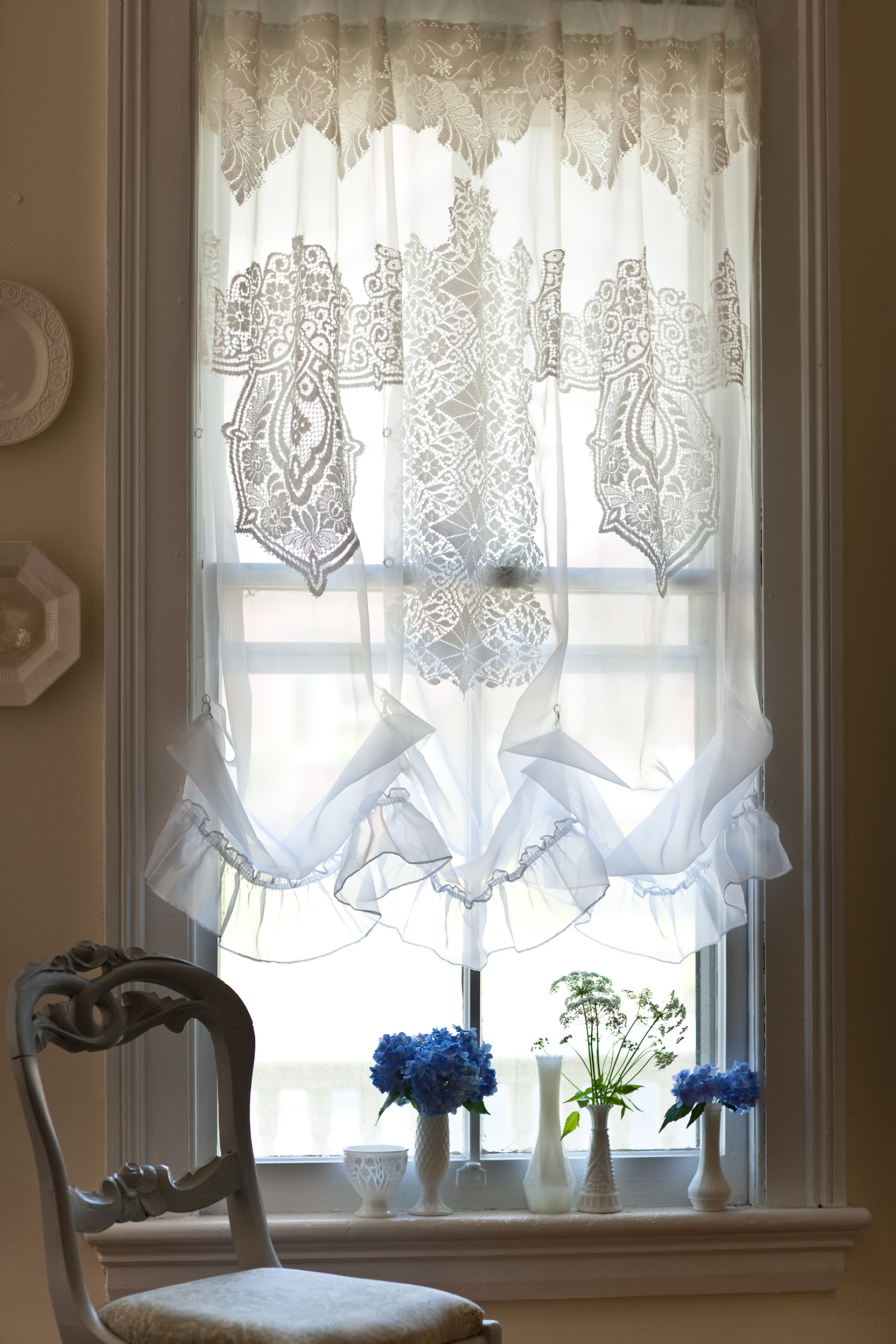Rustic Window Treatment Ideas   Better Homes & Gardens on Farmhouse Curtain Ideas  id=67507
