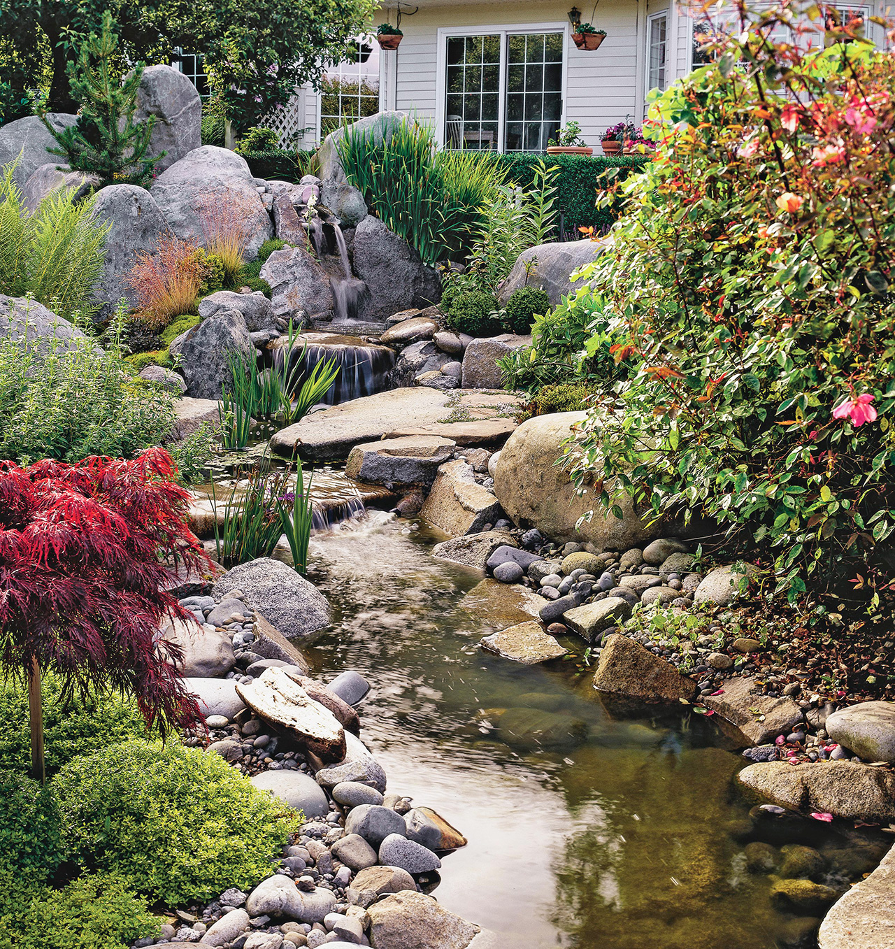 Backyard Landscaping Ideas   Better Homes & Gardens on Backyard Stream Ideas id=42787