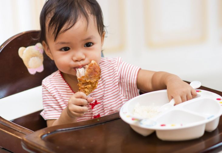 Image result for kid eating meat