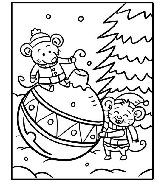 coloring christmas pages # 32
