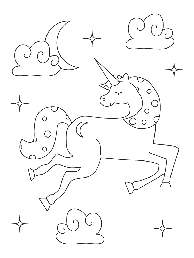 Free Printable Unicorn Coloring Pages Parents