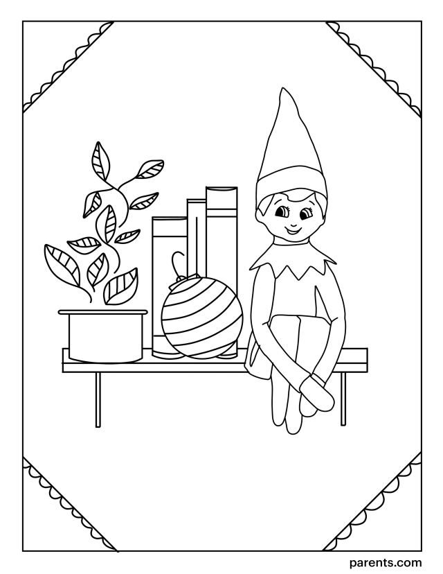 26 Elf on the Shelf Inspired Coloring Pages to Get Kids Excited for