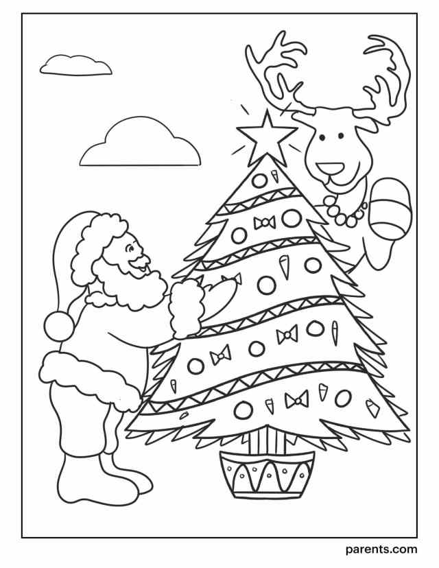 22 Christmas Tree Coloring Pages to Get Kids in the Holiday Spirit