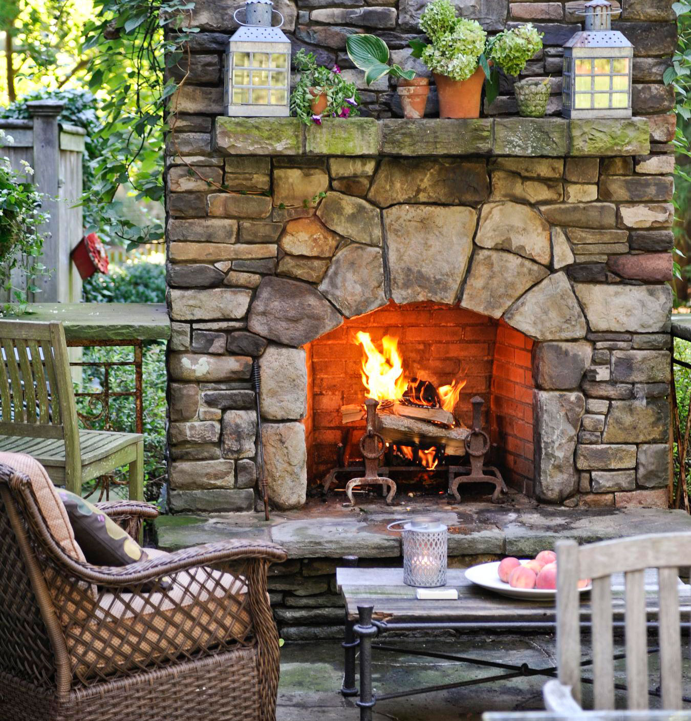 20 Outdoor Fireplace Ideas | Midwest Living on Outdoor Fireplaces Ideas  id=87968
