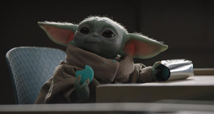 Baby Yoda even sells crappy blue dyed cookies for $50