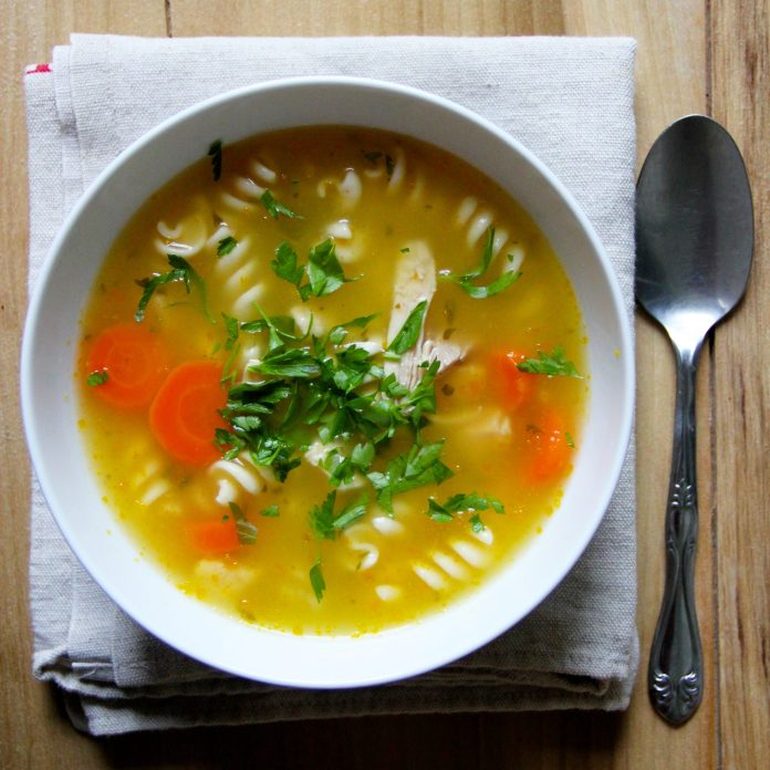 Turkey Noodle Soup Recipe Ian Knauer Food Wine