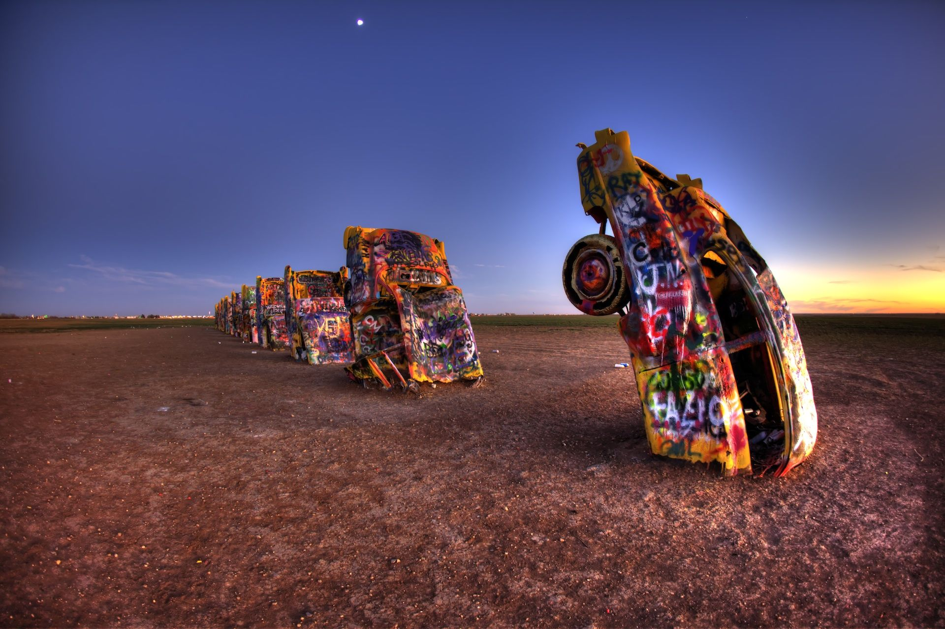 hdr photos from the cadillac ranch in amarillo texas. Black Bedroom Furniture Sets. Home Design Ideas
