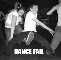 Dancing Kick to the Nuts Fail Picture