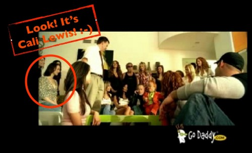 Cali Lewis Godaddy Commercial Cameo