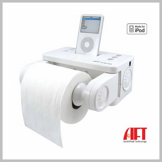 Toilet Paper iPod Dock