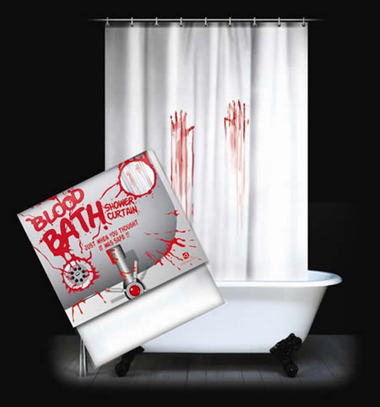 Blood Stained Shower Curtain