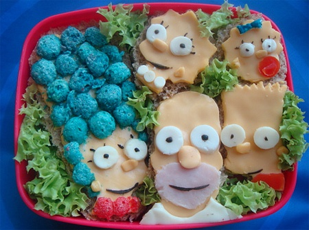 Meat and Cheese Simpsons
