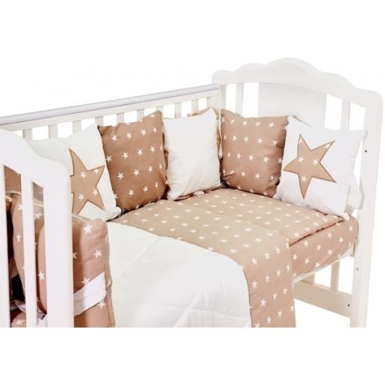 Комплект в кроватку Polini kids Звезды 5 предметов, 120х60 ...