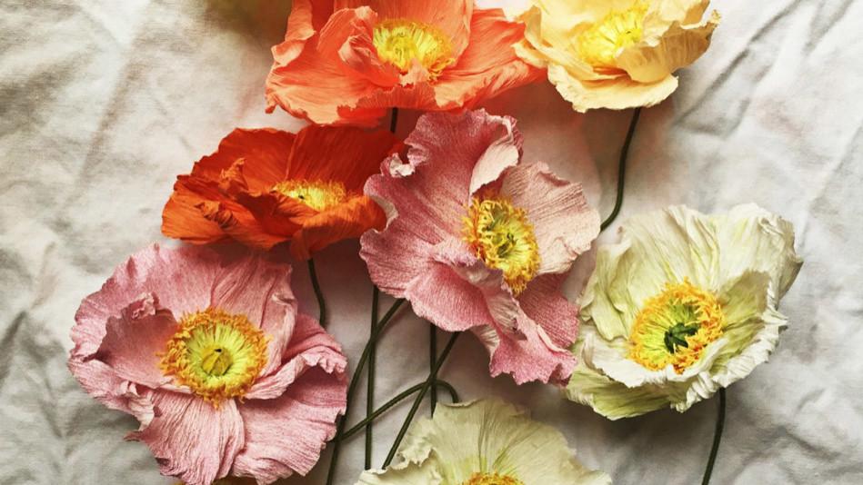 Italian Crepe Paper Flowers By Tiffanie Turner