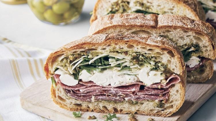 marinated salumi sandwiches