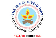 O's 12-Day Holiday Give-O-Way Sweepstakes december 4 icon