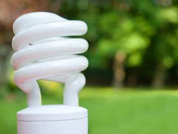 Swap old bulbs with compact florescent lightbulbs.