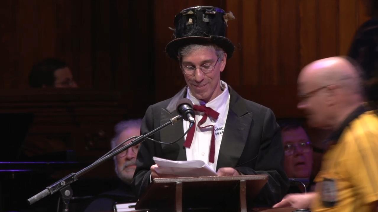Marc Abrahams, az Ig Nobel-díj alapítója az idei díjátadón
