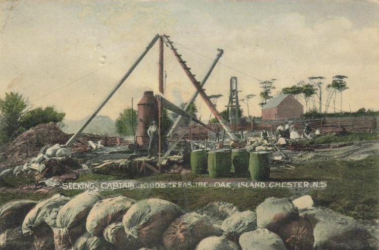 Képeslap a Tölgy-szigetről az 1800-as évekből