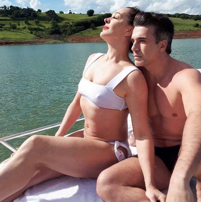 Claudia Raia e Jarbas Homem de Melo (Foto: Reprodução)