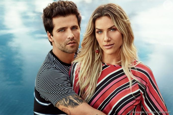 Bruno Gagliasso e Giovanna Ewbank são estrelas da campanha de Primavera Verão 2018 da Malwee (Foto: Divulgação)