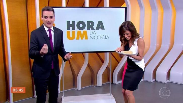 Monalisa Perrone e Tiago Scheuer na Globo (Foto: Reprodução)