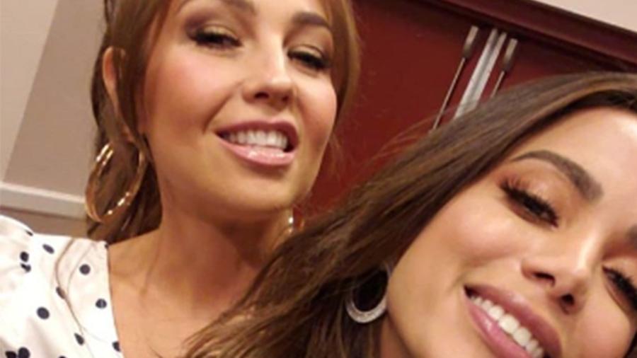 Anitta e Thalía se divertiram juntas (Foto: Reprodução/Instagram)