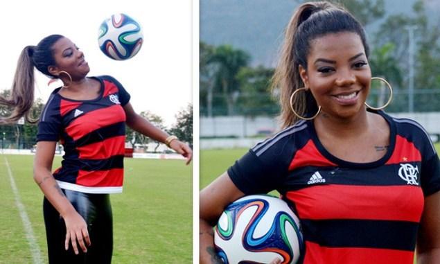 Ludmilla mostra habilidade com a bola (Foto: André Durão/ Globo Esporte)