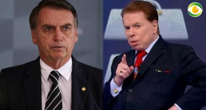 Silvio Santos demonstrou apoio a Jair Bolsonaro no SBT