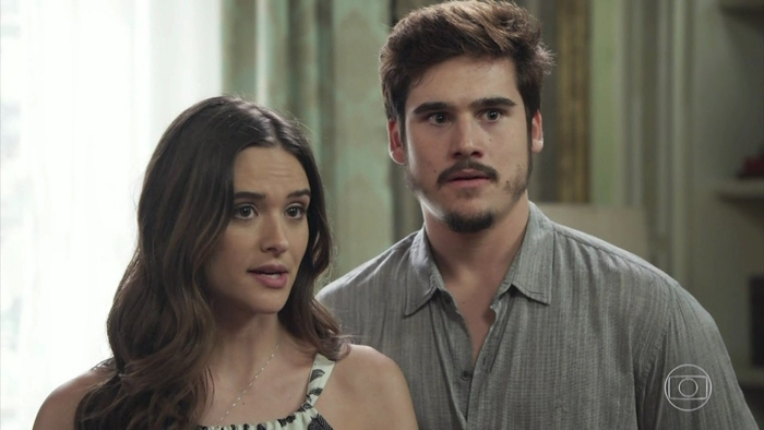 Marocas (Juliana Paiva) e Samuca (Nicolas Prattes) em O Tempo Não Para (Foto: Reprodução/Globo)