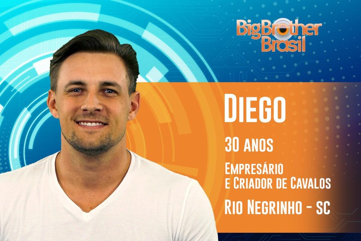 Diego, tem 30 anos e estará no BBB19