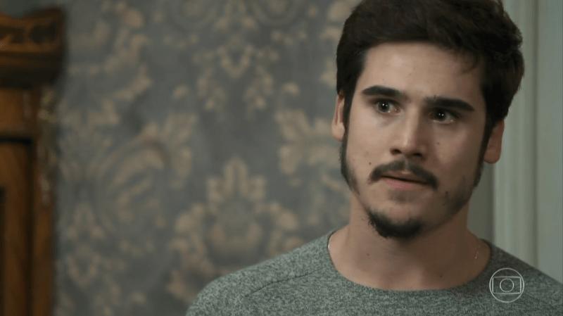 Samuca (Nicolas Prattes) em O Tempo Não Para (Foto: Reprodução/Globo)